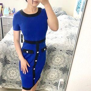 NWT New York & Company Amplified Blue Sheath Dress